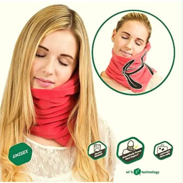 Multifunctional Airplane No Inflatable Proven Super Soft Neck Support Travel Pillow Comfortable Fleece Warm Scarf Ring