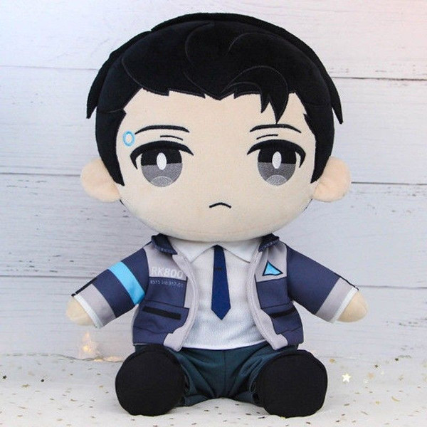 Novelty & Special Use In Stock Game Detroit Become Human RK800 Connor Plush Toy Anime Stuffed Pillow Doll Cosplay Prop Gift New