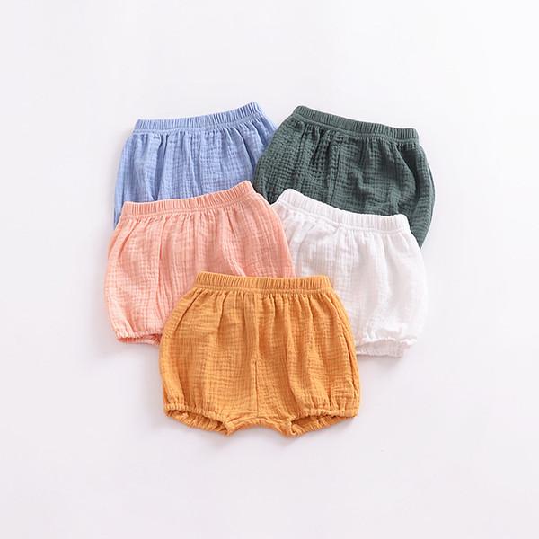 Baby Girls Summer children clothing 5 colors Linen Cotton shorts Newborn Baitie pants kids designer clothes girls JY296