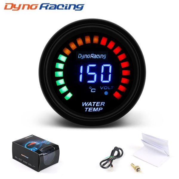 top popular Dynoracing 52mm 2 Inch LCD Digital Car Water Temp Gauge With Sensor Water Temperature gauge Car meter 2021