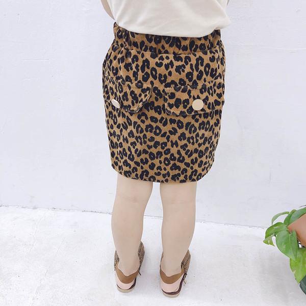 Les nouvelles filles léopard jupes bébé jupes A-ligne de vêtements de créateurs pour enfants filles jupe short bébé fille vêtements nouveau 2019 automne A8070 hiver