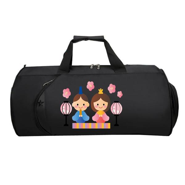 Japão Hinamatsur Bag bagagem de Viagem Dos Homens Das Mulheres bagagem pacote Adolescentes Multifuncional Grande Capacidade Strap Duffel bolsa de Ombro