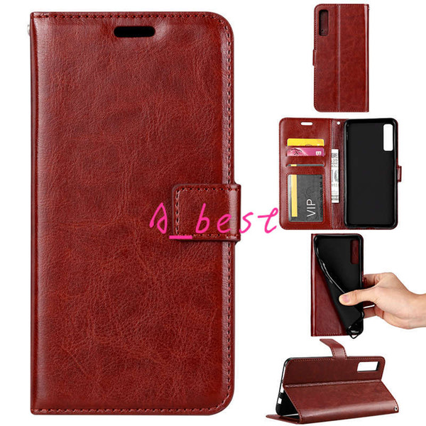 Retro PU Leather Wallet Case Flip Stand Phone Cover for Samsung J2 J3 J4 J6 J8 Plus A6 A8 A7 2018 S9 Note9