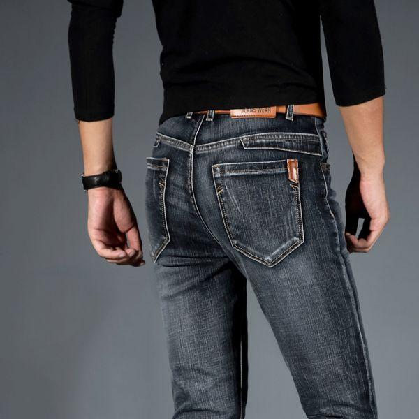 Mens Jeans Jean Homme Jogger Biker Masculina Slim Pants Pantalon Vaquero Hombre Hip Hop Baggy Casual Harem Distressed Designer Y190603