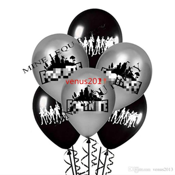 best selling Free Shipping Black and silver For Night balloon Poppy latex Balloons Globos Birthday Party Supplies Kids Toys Gifts Marriage Decorations