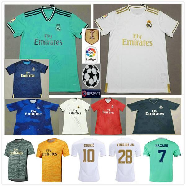 2019 2020 maglie da calcio del Real Madrid 7 PERICOLO MODRIC JOVIC ASENSIO VINICIUS JR KROOS BENZEMA VARANE Maglietta da calcio per bambino uomo donna personalizzata