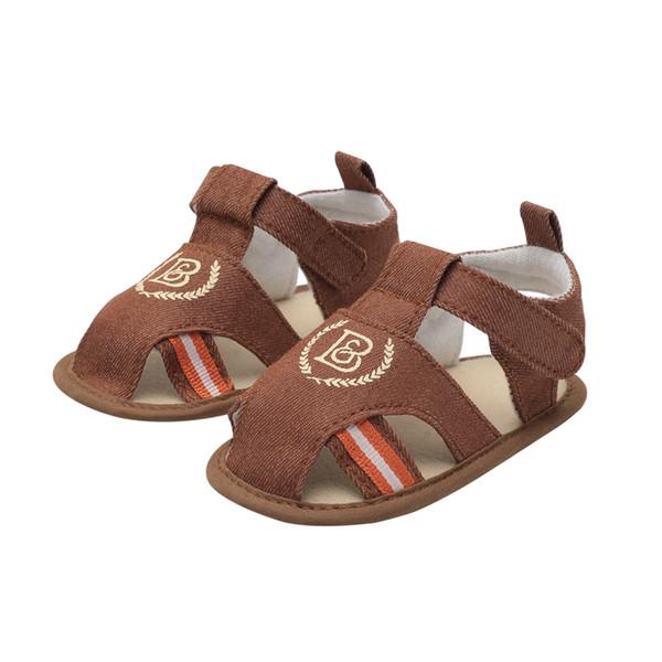 Yaz Yeni 0-1-2 Yaşında Erkek Bebek Baotou Yumuşak Alt Toddler Ayakkabı Sandalet
