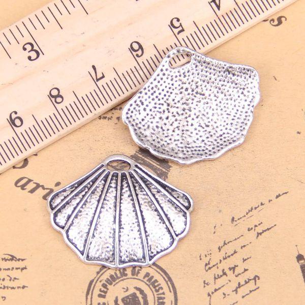 10pcs encantos desembolsar 25x30mm Antique pingentes, prata tibetana Vintage Jóias, DIY para colar pulseira