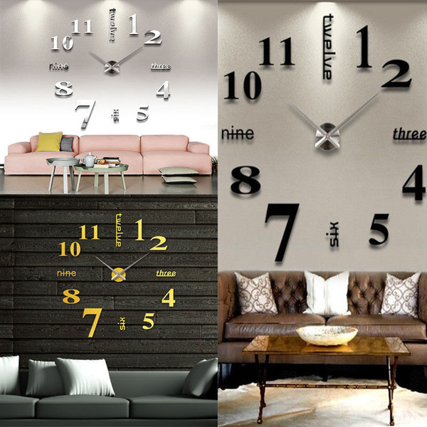 home office decor ideas.htm modern diy large wall clock 3d mirror sticker surface sticker home  modern diy large wall clock 3d mirror