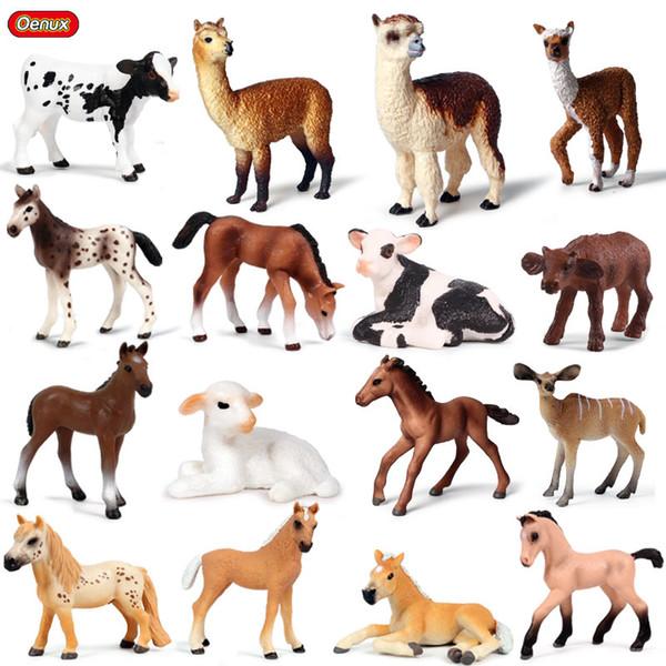 oys Hobbies Action Toy Figures Oenux Farm Animals Simulation Cute Model Action Figure Alpaca Cow Horse Figurines Sheep Goat Miniature Edu...