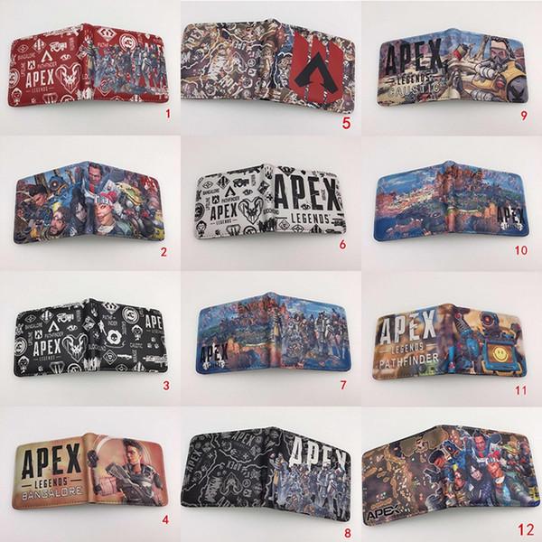Dhl apex legend brieftasche cosplay teenager student kurze brieftasche mit kartenhalter münzfach geldbörse cartoon kinder kinder geschenk tasche 25 stil