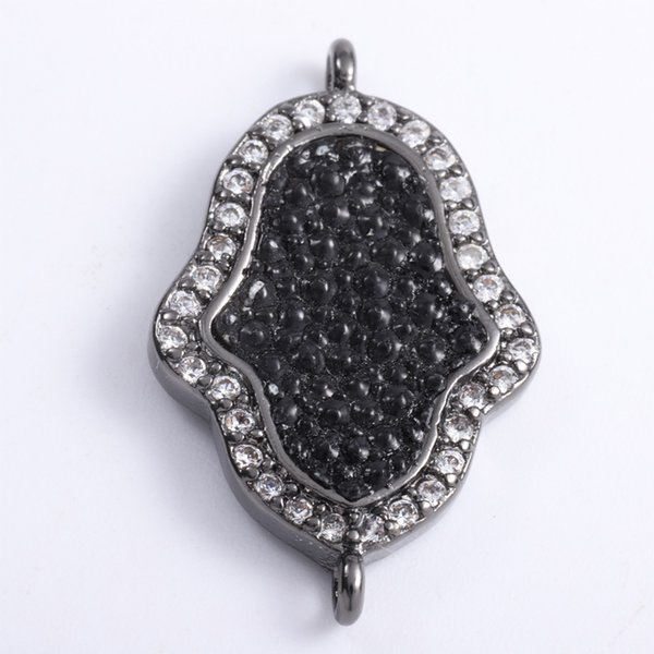 Singreal Stingray Leather Micro Pave Evil Eye Charms Bracelet necklace Choker Pendant connectors for women DIY Jewelry making