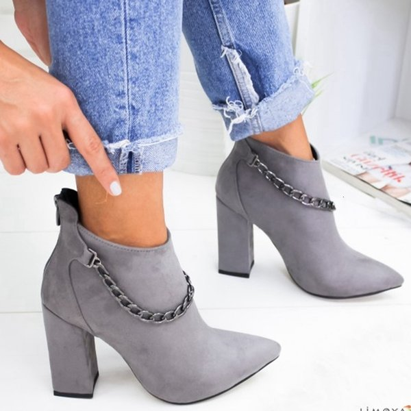 Scarpe Oeak Women Inverno Autunno Donne Botas Scarpe Donna Casual alti talloni caldo Stivaletti Mujer Zapatos Plus Size 35-43