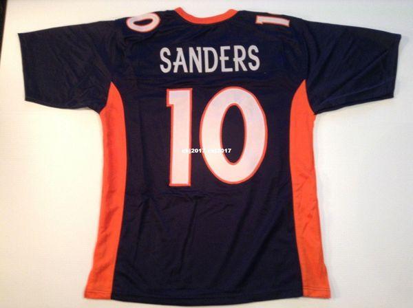 Cheap Retro custom Sewn Stitched #10 Emmanuel Sanders Blue MITCHELL & NESS Jersey High-end Men's Football Jerseys College NCAA