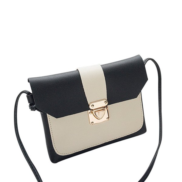 Leather Handbags Women Bag High Quality Casual Female Bags Vintage Women With Patchwork Cover Coin Phone Bag