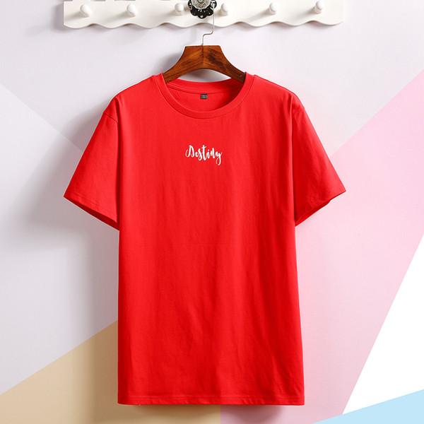 SY17 мужские дизайнерские футболки новые мужские короткие рукава имеют красную надпись на груди дизайнер рубашки поло Мужчины и многие другие товары в магазине