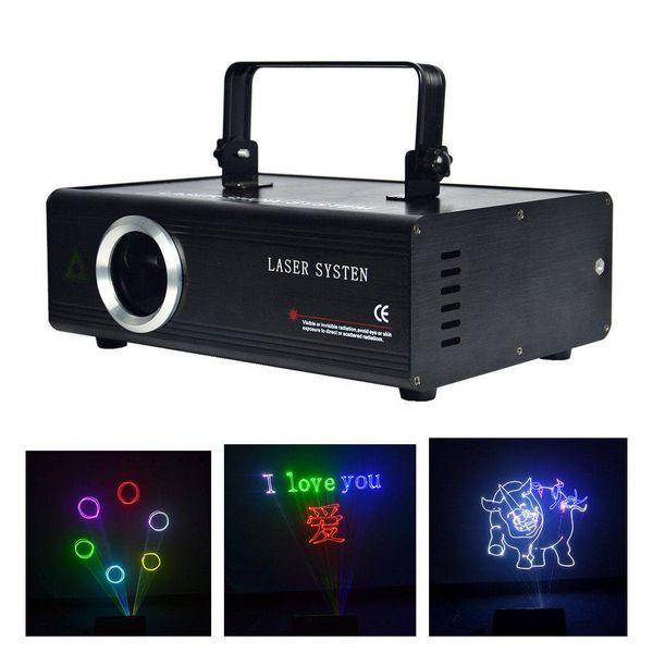 AUCD RGB 500mW 1W SD Program Card ILDA Laser Lights 24CH DMX Kaleidoscope Animation Scan Projector DJ Show Stage Lighting DA-F500 F1000
