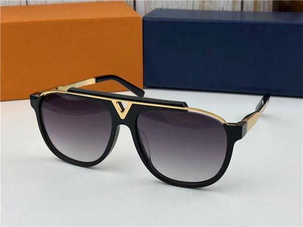 Diseñador de moda gafas de sol de metal cuadrado marco de dos colores clásico retro hombres UV400 protección al aire libre de calidad superior con Orange case0936