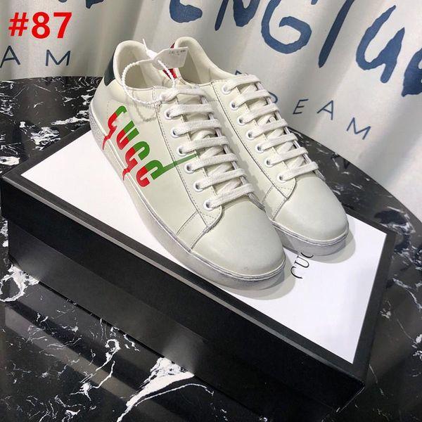 19NO.1GU YENI Ace Blade Baskı Düşük Üst Sneaker Sneakers Herrenschuhe Neu Ayakkabı Erkekler Orijinal Kutusu Ile Staine Sneakers Ayakkabı
