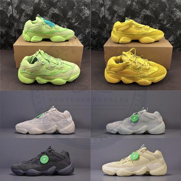 2019 Scarpe da corsa Kanye West Salt 500 Scarpe da uomo progettate Super Moon Yellow Blush Desert Rat Donne Scarpe da ginnastica sportive 500s Sneakers 36-46