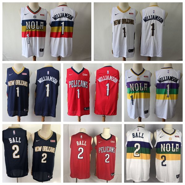 2019 Nbajersey City Neworleanspelicans Mens 1 Zionwilliamson Jerseys Earned Williamson 2 Lonzoball Red Basketball Shirts From Topjersey 19 4