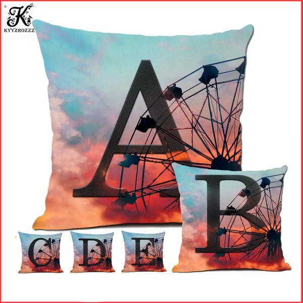 24 English Letter Cushion Cover 45 * 45cm Nordic Home Sofa Decorative Pillow Fashion Design Printing Pillow Almofadas