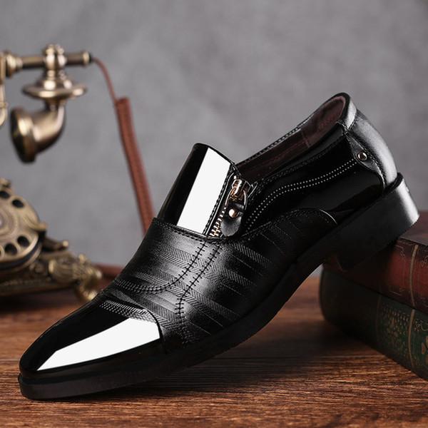 DUDELI Fashion Business Dress Men Shoes 2019 New Classic Leather Men'S Suits Shoes Fashion Slip On Dress Men Oxfords