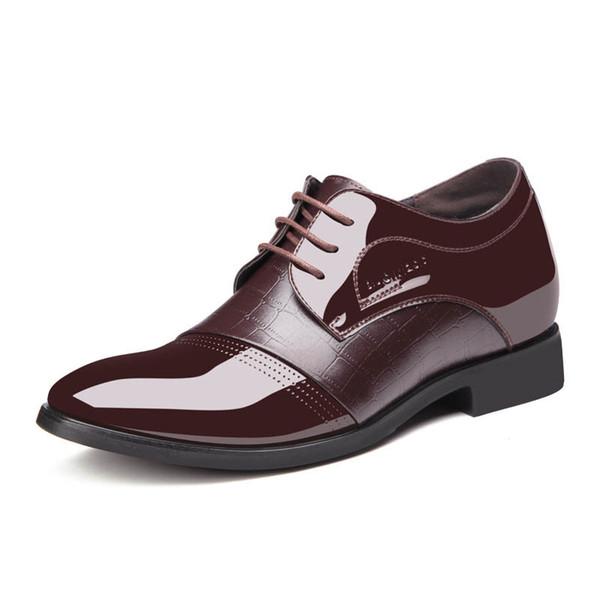 elevator shoes for men wedding shoes men elegant patent leather shoes for men zapatos oxford hombre luxus designer schuhe bona