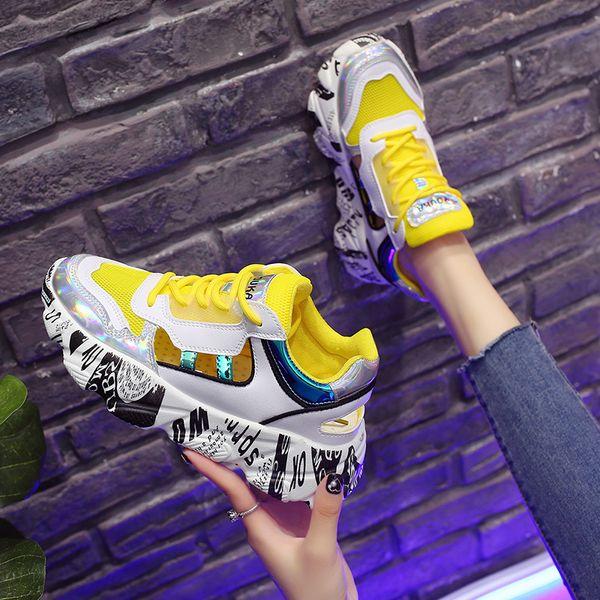 nuovi arrivi Scarpe 2018 nuovo economico Acquista DUDELI 2019 Donna Scarpe Da Ginnastica Colorate Piattaforma Scarpe  Da Ginnastica Robuste Scarpe Da Donna Calzature Estive Scarpe Casual ...