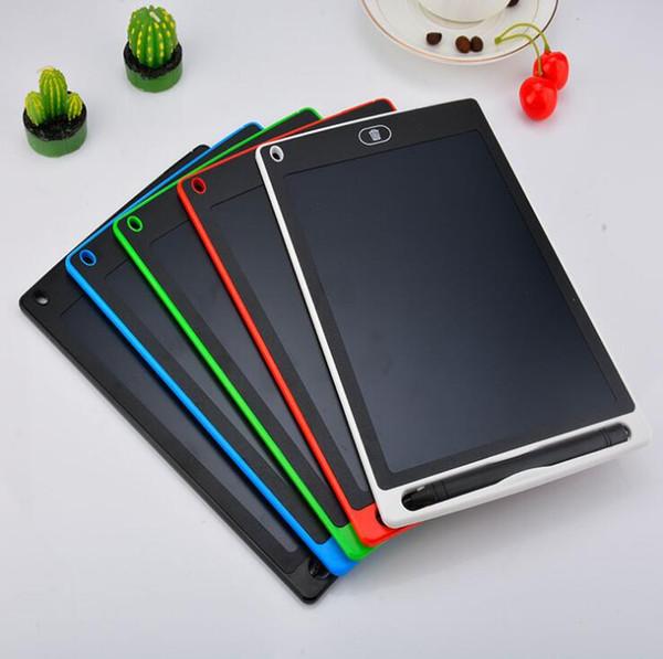 LCD écritoire Tablette 8,5 « » pouces électronique dessin écritoire Handwriting Pads __gVirt_NP_NN_NNPS<__ Conseil ultra-mince avec un stylo Touche d'effacement 5 couleurs + boîte détail