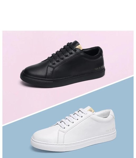 New fashion trend wild version south Korean first layer leather breathable casual shoes leather small white shoes women's shoes 36-45 as
