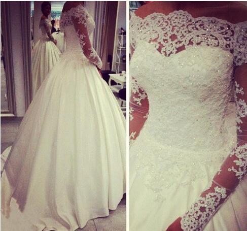 New Short Sparkly crystals Off Shoulder Hot Sale Sexy Long Sleeves beaded Lace Edge Wedding Bridal Bolero Jacket Shawl White Ivory Custom