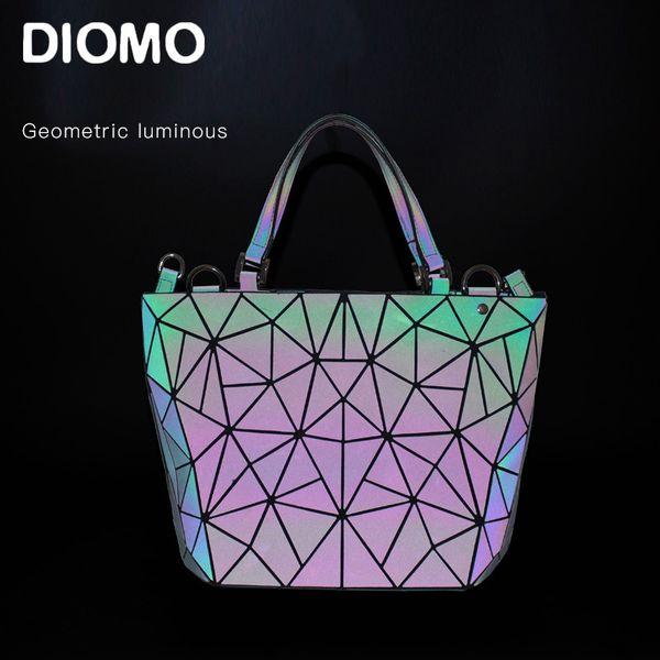 Diomo sac une femme principale sac géométrique lumineux 2019 dames sac à main et les femmes messager seau mode féminine