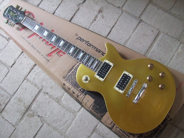 STANDARD electric guitar front gold rear yellow black open pickup