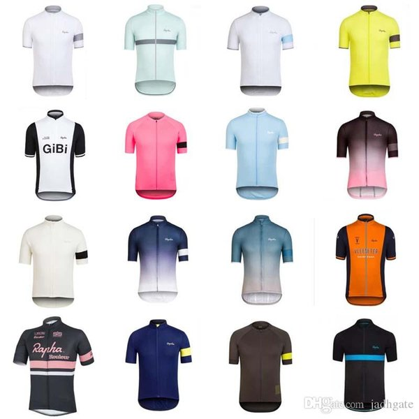 hot sale RAPHA team Cycling Short Sleeves jersey New off-road outdoor short-sleeved T-shirt fashion riding suit D0928