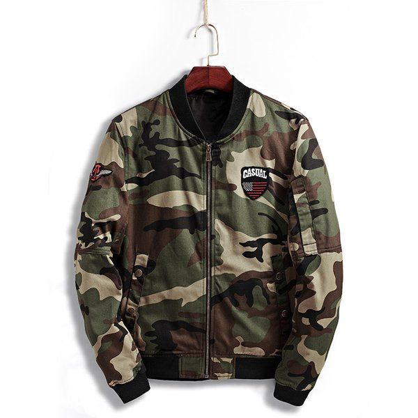 High Quality New Baseball Suit Jacket Casual Camouflage Collar Fashion Trim Men's Jacket 2 Color kw
