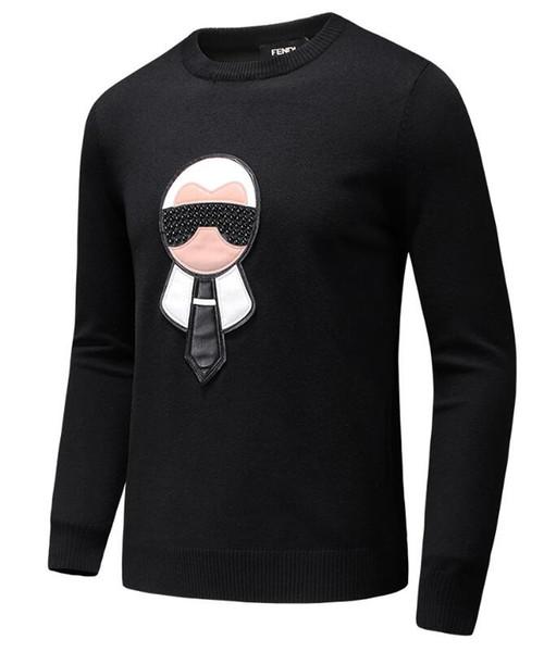 Moda sonbahar kış boncuk boyun erkek tasarımcılar hoodies o erkekler gelgit erkek tasarımcıların kazak yeni sıcak kazak kazak