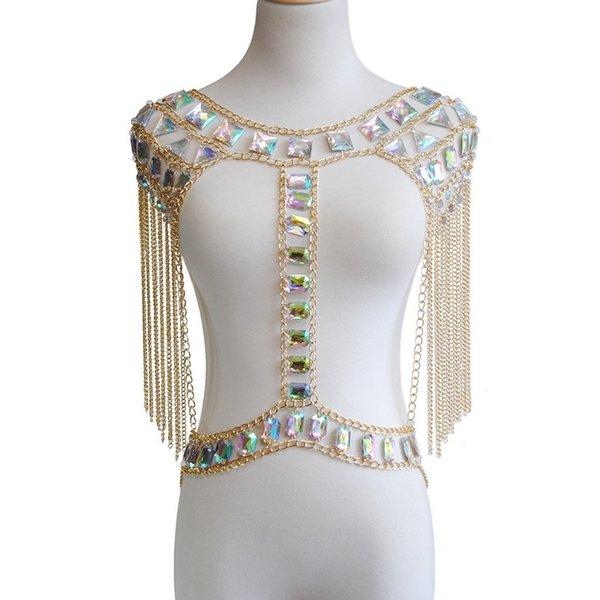 Gold bra