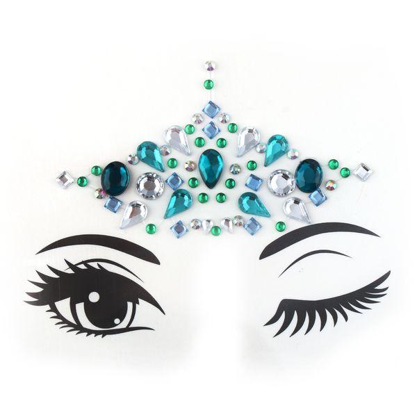 1pc Glitter Festival Party Face Makeup Gems Rhinestone Jewel Body Tattoo Stickers Eye Gems Stickers Makeup Decoration Tools