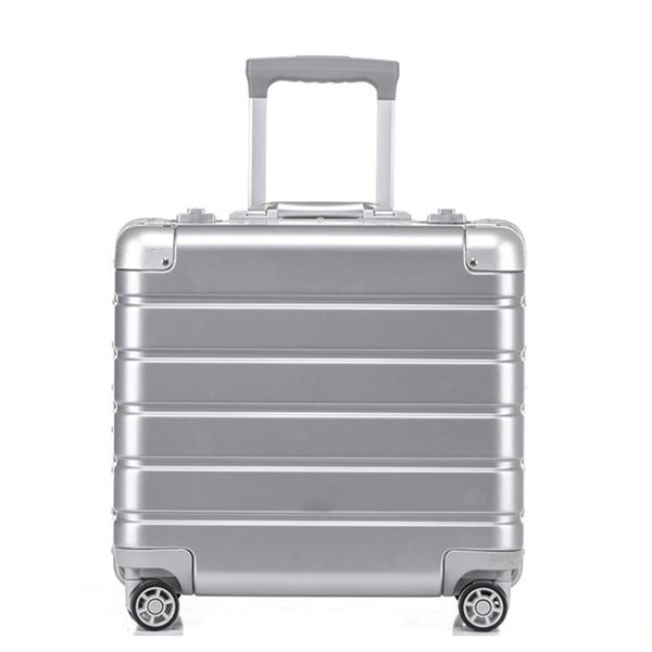 "TRAVEL TALE 18"" inch aluminium frame cabin laptop travel suitcase small business hand luggage on wheel"