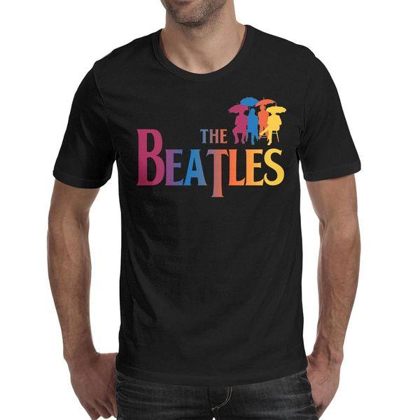 The Beatles Colorful Rock Pop Men T Shirt black Shirts Custom T Shirts Funny T Shirts Mvp Custom Made Shirt Black