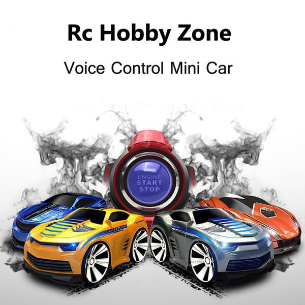 Mini 4 canales de Rc Car Con Smart reloj de control de voz control remoto de coches en la radio Rc 663 juguetes para los niños