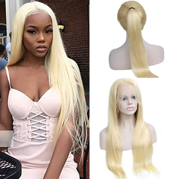 Brazilian 613# Honey Blonde Human Hair Lace Front Wigs With Baby Hair Pre Plucked Brazilian Blonde Human Hair Wigs for Black Women
