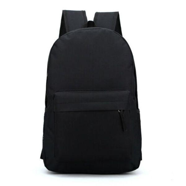 Women's Canvas Backpack Men's Women's Student Leisure Travel Bag Business Laptop (Black)