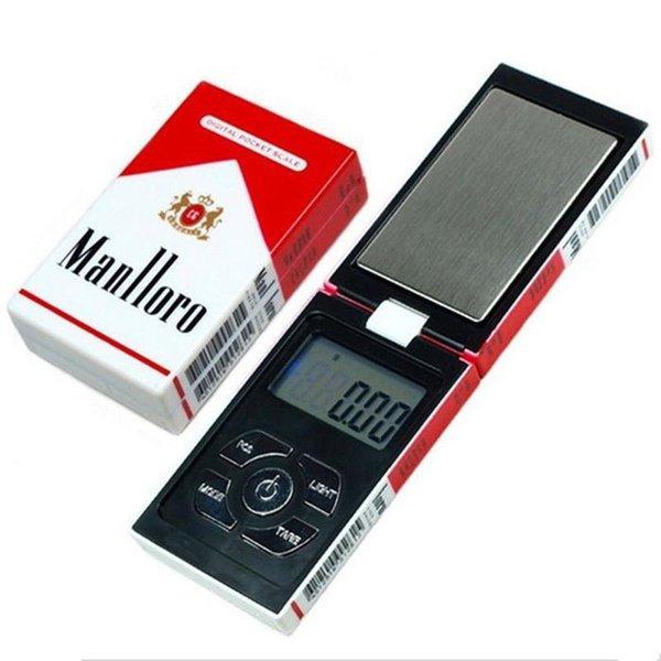 100g x 0.01g Bijoux Balances de poche numérique Mini LCD cigarette bijoux de poche de cas de diamant d'or échelle 0,01 Gram 100 200 500g