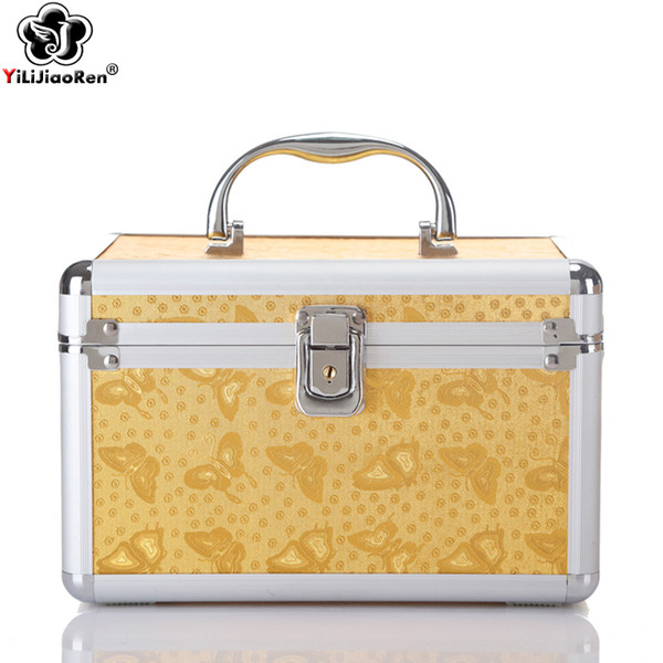 Fashion Animal Prints Cosmetic Case Large Capacity Make Up Bags Famous Brand Leather Make Up Box Portable Travel Cosmetic Bag