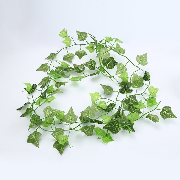 1Pcs Fake Artificial Hanging Vine Plant Leaves Garland Drop Shipping Home Garden Grass Wall Decoration Green Artificial Plants