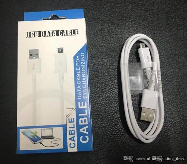 1M 3FT Micro USB Sync Кабель для передачи данных Зарядные шнуры Линия зарядного устройства с розничной коробкой для Samsung Galaxy S4 S6 S7 LG HTC Xiaomi Huawei Phone