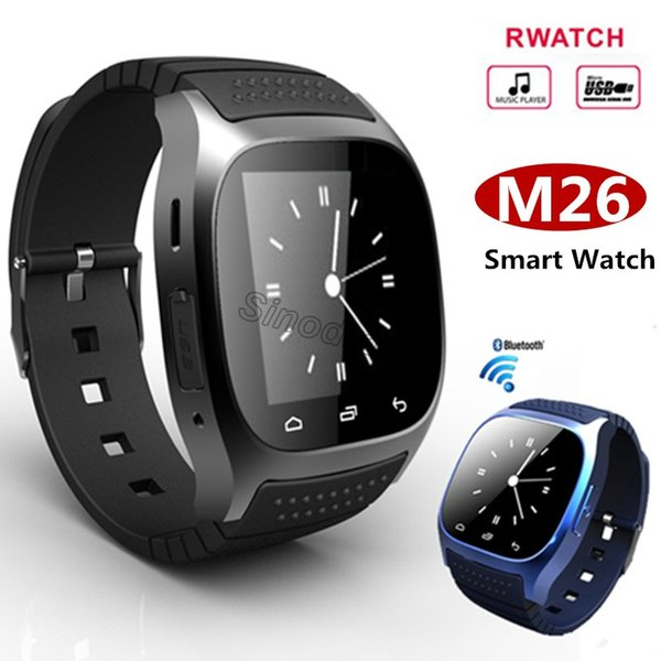 100PCS Bluetooth Smart Watches M26 Watch With Altimeter For IPhone Samsung HTC Android Phone Health Smartwatch+Retail Package