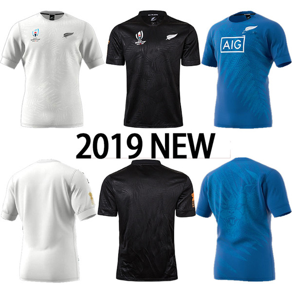 2019 2020 ALL bALcK Rugby Jersey New Zealand Rugby World Cups NEW ZEALAND JERSEY National HOME JERSEY cheap world cup